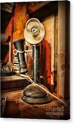 Communication - Candlestick Phone Canvas Print by Paul Ward