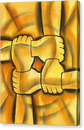 Communication Canvas Print by Leon Zernitsky