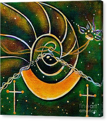 Canvas Print featuring the painting Communicator Spirit Eye by Deborha Kerr