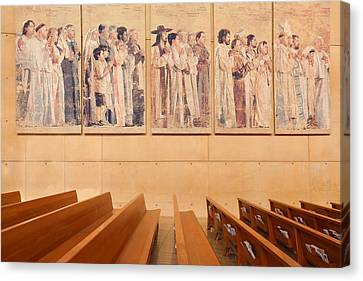 Canvas Print featuring the photograph Communion Of Saints - Cathedral Of Our Lady Of The Angels Los Angeles California by Ram Vasudev