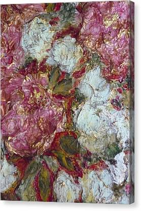 Companion Paper Peonies Canvas Print by Jeannine Sandoval