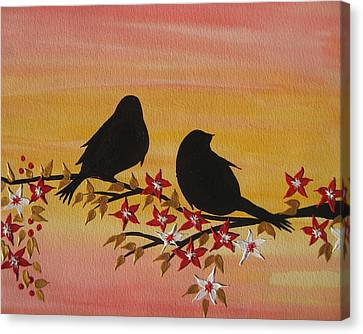 Companionship Canvas Print by Cathy Jacobs