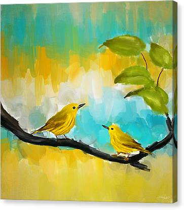 Canary Canvas Print - Companionship by Lourry Legarde