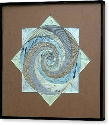 Canvas Print featuring the mixed media Compass Headings by Ron Davidson