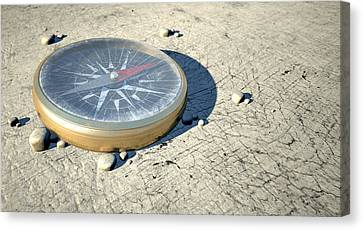 Compass In The Desert Canvas Print