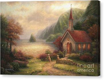 Compassion Chapel Canvas Print by Chuck Pinson