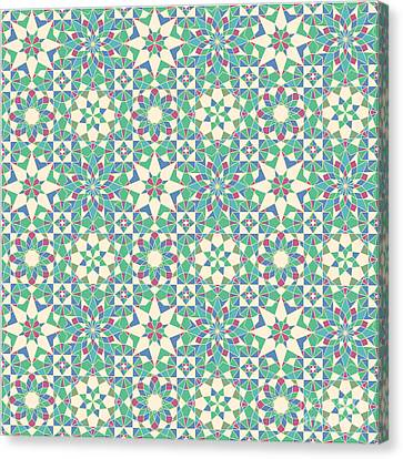 The Nature Center Canvas Print - Complete Octal Tiling by Cam Macfarlane