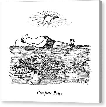 Complete Peace Canvas Print by William Steig
