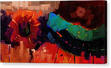 Complex 1 - Red Abstract Painting Canvas Print by Kanayo Ede