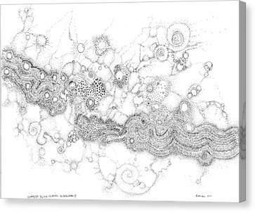 Complex Fluid A Novel Surfactancy Canvas Print by Regina Valluzzi