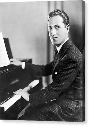 Gershwin Canvas Print - Composer George Gershwin by Underwood Archives