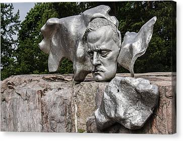 Composer Jean Sibelius - Pipe Monument - Helsinki Finland Canvas Print by Jon Berghoff