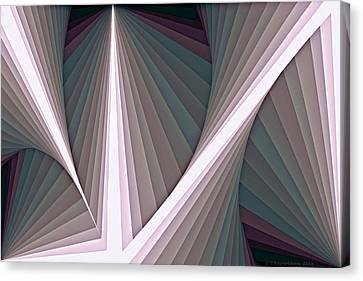 Composition 128 Canvas Print by Terry Reynoldson