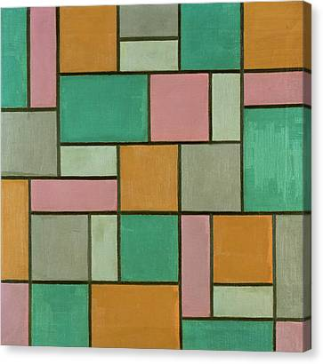 Composition Seventeen Canvas Print by Theo van Doesburg