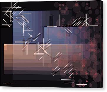 Non-objective Art Canvas Print - Composition 47 by Terry Reynoldson