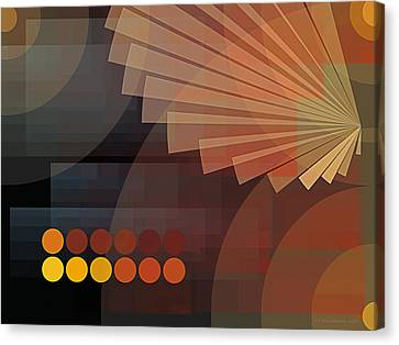 Composition 51 Canvas Print by Terry Reynoldson