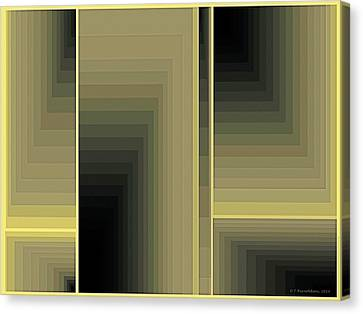 Composition 75 Canvas Print by Terry Reynoldson
