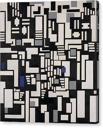 Composition Ix Canvas Print by Theo Van Doesburg