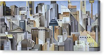 Composition Looking East Canvas Print by Catherine Abel