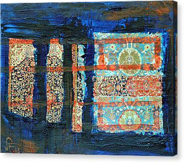 Canvas Print featuring the painting Composition Orientale No 2 by Walter Fahmy