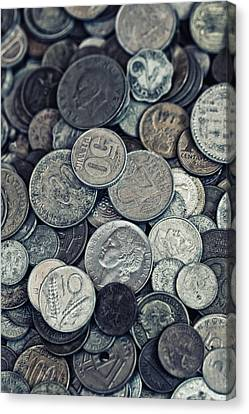 Composition With Old Rusty Coins Canvas Print