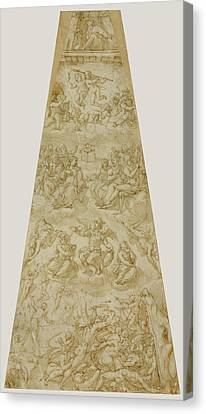 Compositional Study For The Southeast Section Of The Cupola Canvas Print by Litz Collection