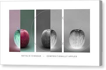 Compositionally Apples Canvas Print by Natalie Kinnear
