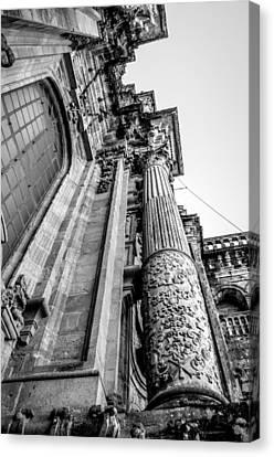 Compostela Cathedral Columns Canvas Print by Justin Murazzo
