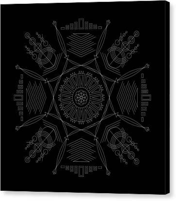 Compression Inverse Canvas Print by DB Artist