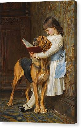 Briton Riviere Canvas Print - Compulsory Education by Briton Riviere