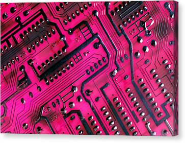 Computer Circuit Board Canvas Print by Anonymous