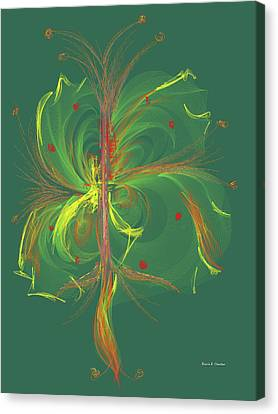 Computer Generated Floral Design Canvas Print by Angela A Stanton