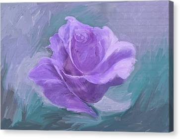 Computer Generated Image Of A Purple Canvas Print by Angela A Stanton