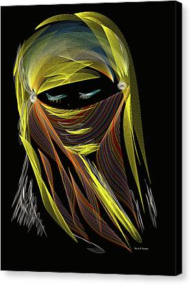 Computer Generated Image Of A Woman S Canvas Print
