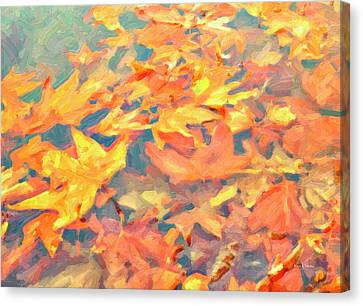Computer Generated Image Of Autumn Canvas Print by Angela A Stanton