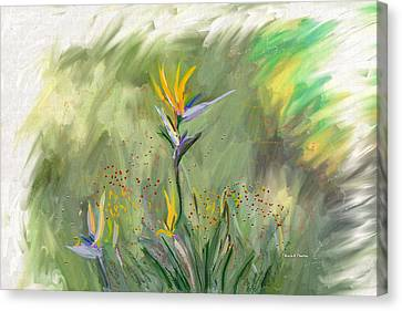 Computer Generated Image Of Flowers Canvas Print by Angela A Stanton