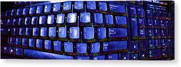 Computer Keyboard  Canvas Print by Dan Twyman