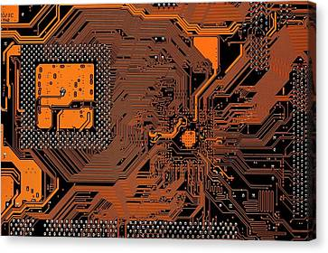 Computer Motherboard Canvas Print