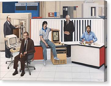 Computer Pioneers Of Silicon Valley Canvas Print by Terry Guyer
