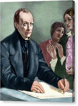 Comte, Auguste (montpellier Canvas Print