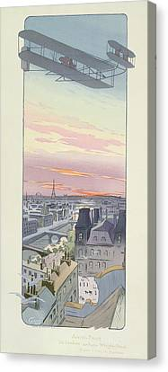 Comte Charles De Lambert Flying Canvas Print by Marguerite Montaut