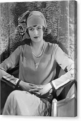 Cloche Hat Canvas Print - Comtesse Gerard De Moustier Wearing A Reboux Hat by Edward Steichen