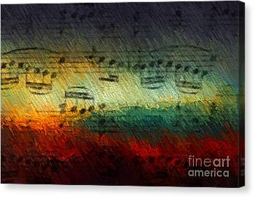 Canvas Print featuring the digital art Con Fuoco by Lon Chaffin