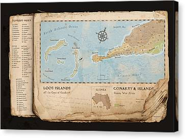 Conakry Map Canvas Print