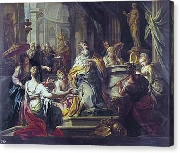 The Sacred Feminine Canvas Print - Conca, Sebastiano 1680-1764. The by Everett