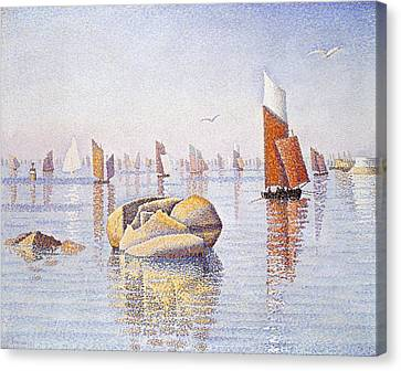 Signac Canvas Print - Concarneau   Quiet Morning by Paul Signac