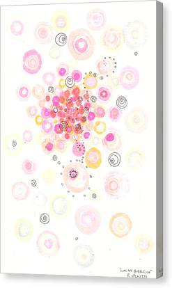 Concave Bubblegum Canvas Print by Regina Valluzzi