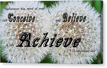 Conceive Believe Achieve Canvas Print by Barbara Griffin