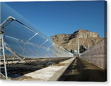Concentrating Solar Power Plant Canvas Print by Us Department Of Energy
