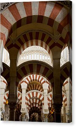 Concentric Arabic Arches Canvas Print by Levin Rodriguez